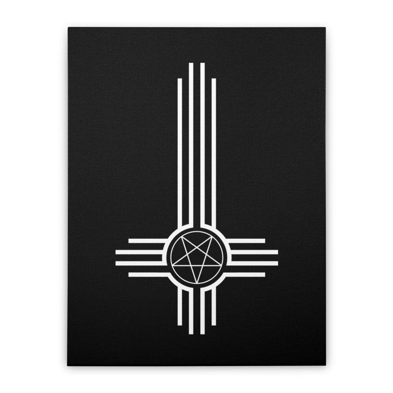 Nuevo Satanismo Home Stretched Canvas by Cold Lantern Design