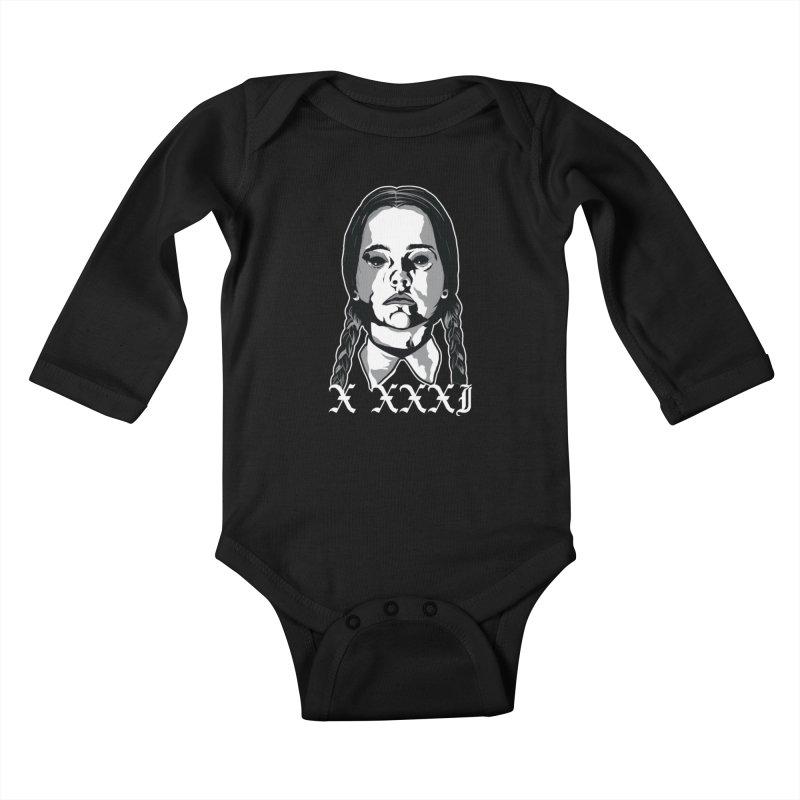 X XXXI 2019 (Wednesday) Kids Baby Longsleeve Bodysuit by Cold Lantern Design