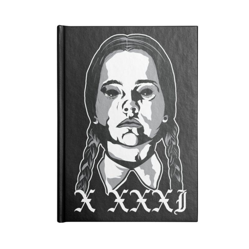 X XXXI 2019 (Wednesday) Accessories Blank Journal Notebook by Cold Lantern Design