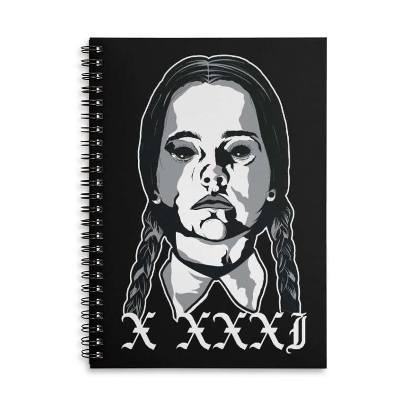 X XXXI 2019 (Wednesday) Accessories Lined Spiral Notebook by Cold Lantern Design