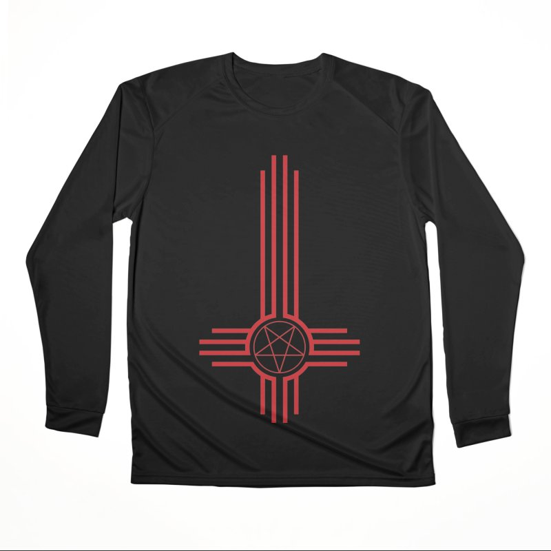 Nuevo Satanismo (BLOOD variant) Women's Performance Unisex Longsleeve T-Shirt by Cold Lantern Design