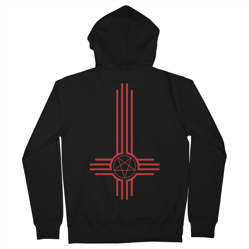 Nuevo Satanismo (BLOOD variant) Men's French Terry Zip-Up Hoody by Cold Lantern Design