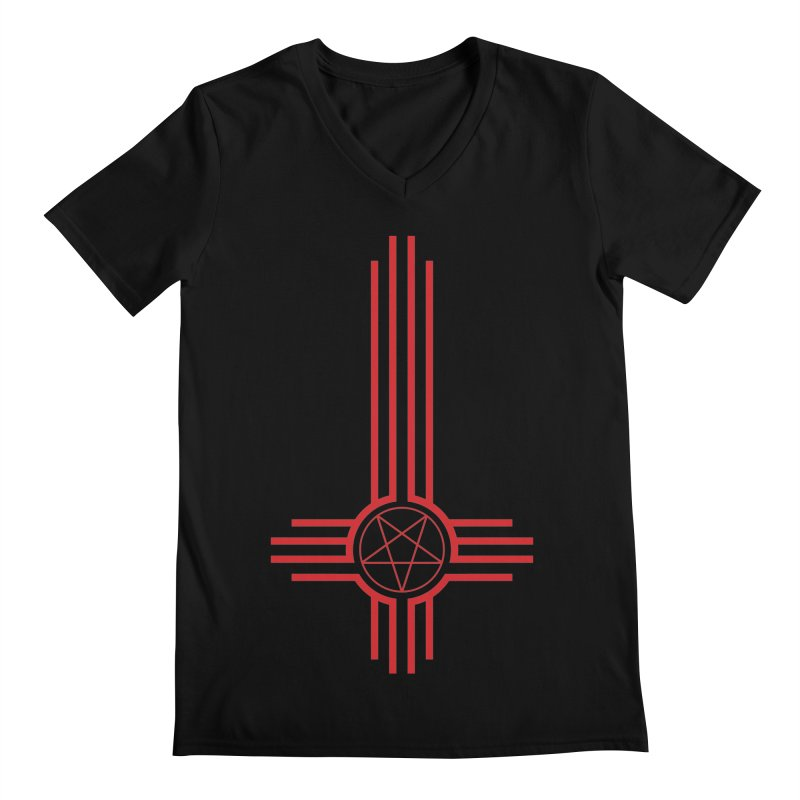 Nuevo Satanismo (BLOOD variant) Men's Regular V-Neck by Cold Lantern Design