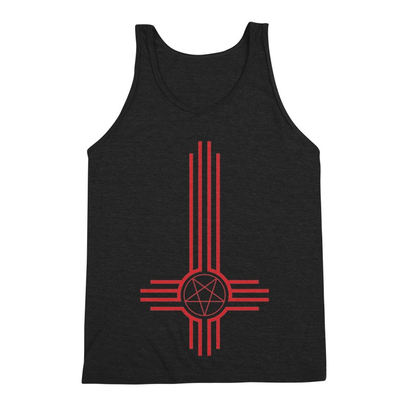 Nuevo Satanismo (BLOOD variant) Men's Triblend Tank by Cold Lantern Design