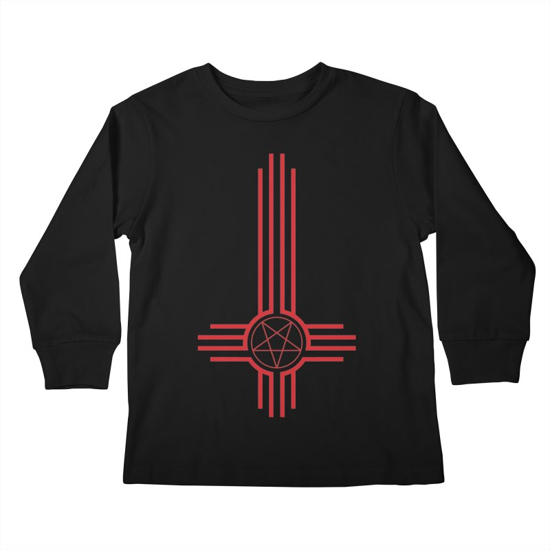 Nuevo Satanismo (BLOOD variant) Kids Longsleeve T-Shirt by Cold Lantern Design