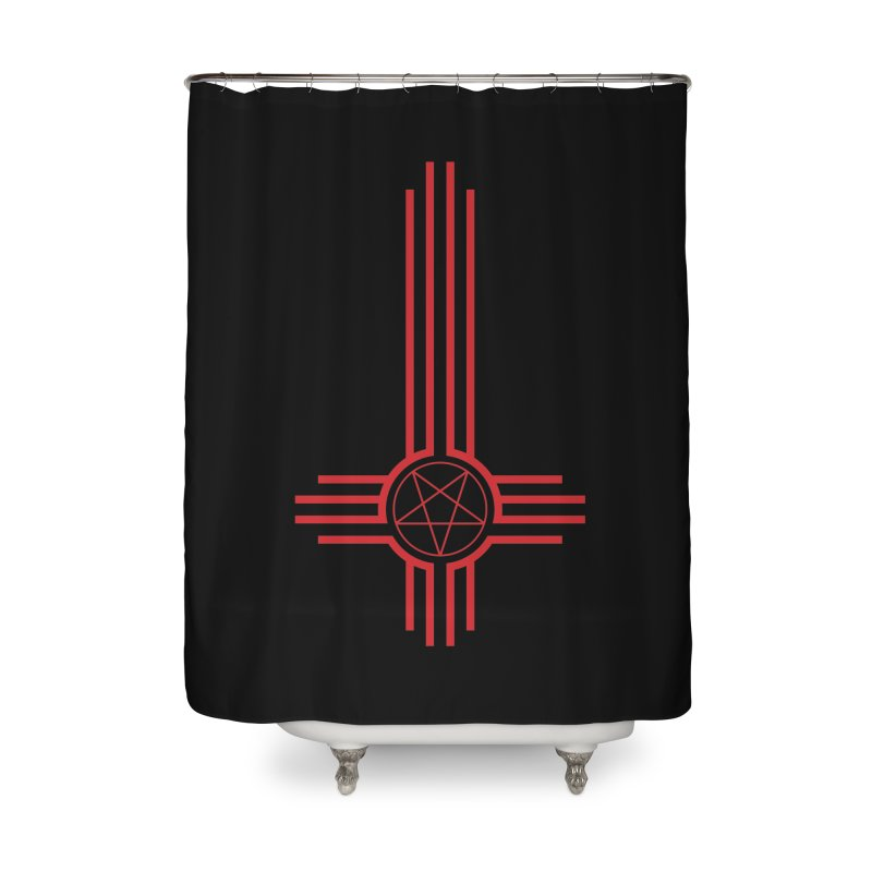 Nuevo Satanismo (BLOOD variant) Home Shower Curtain by Cold Lantern Design
