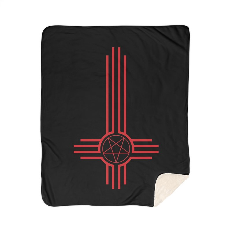 Nuevo Satanismo (BLOOD variant) Home Sherpa Blanket Blanket by Cold Lantern Design