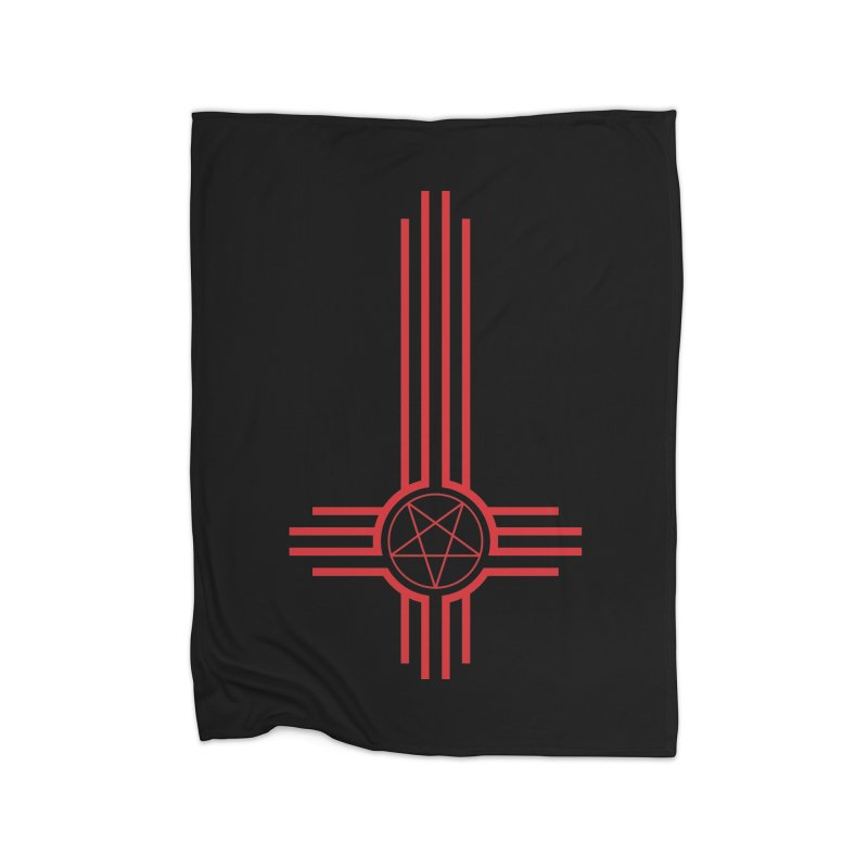 Nuevo Satanismo (BLOOD variant) Home Fleece Blanket Blanket by Cold Lantern Design