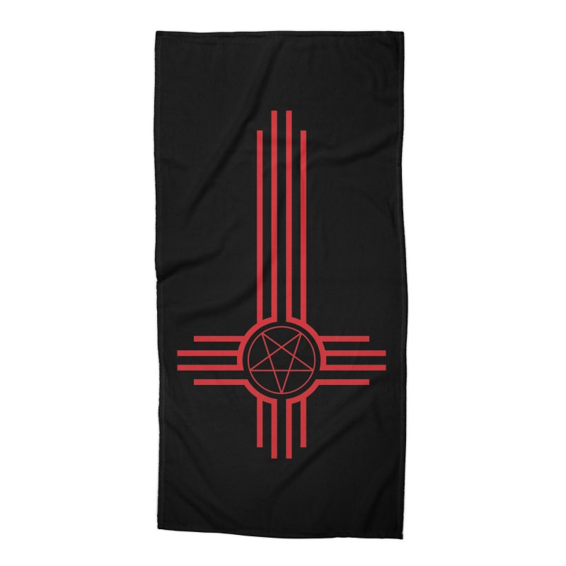 Nuevo Satanismo (BLOOD variant) Accessories Beach Towel by Cold Lantern Design