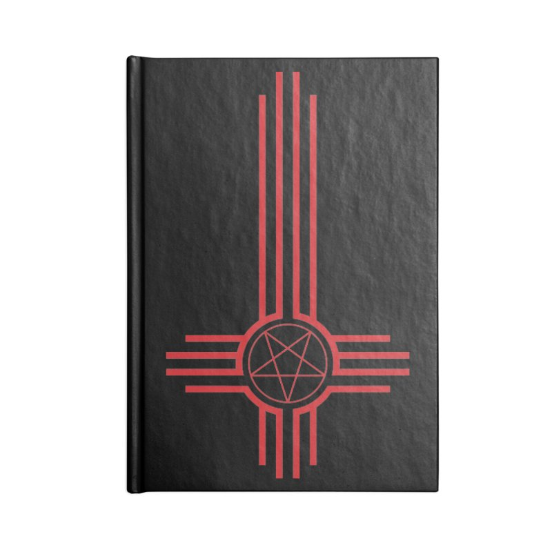 Nuevo Satanismo (BLOOD variant) Accessories Lined Journal Notebook by Cold Lantern Design