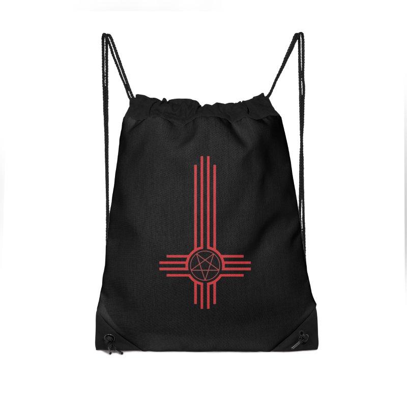 Nuevo Satanismo (BLOOD variant) Accessories Drawstring Bag Bag by Cold Lantern Design