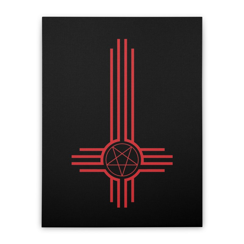 Nuevo Satanismo (BLOOD variant) Home Stretched Canvas by Cold Lantern Design