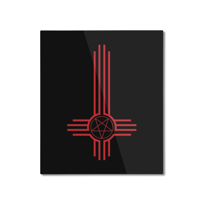 Nuevo Satanismo (BLOOD variant) Home Mounted Aluminum Print by Cold Lantern Design