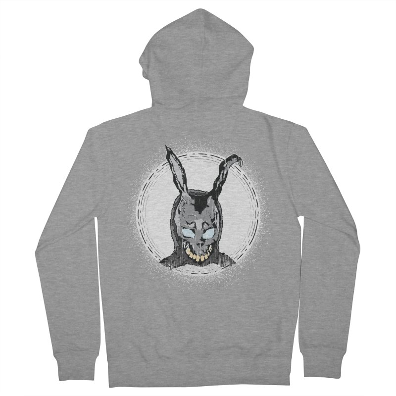 Down the Rabbit Hole Men's French Terry Zip-Up Hoody by Cold Lantern Design