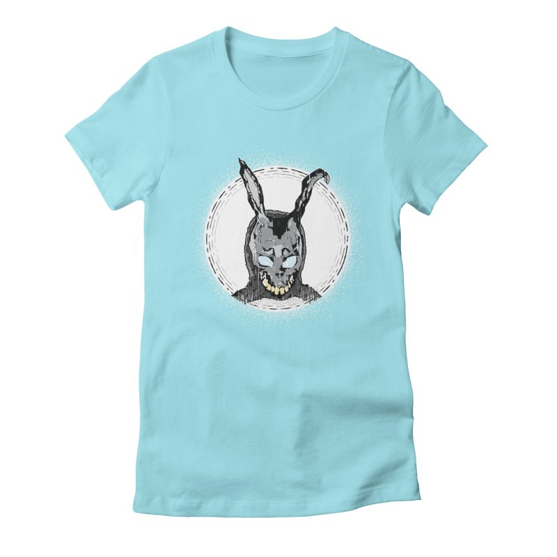 Down the Rabbit Hole Women's Fitted T-Shirt by Cold Lantern Design