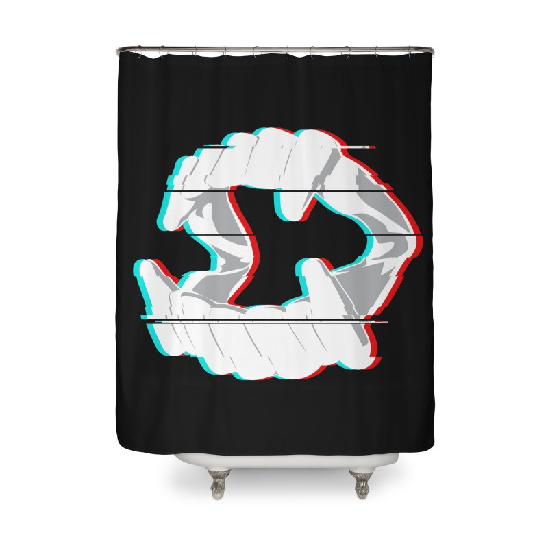 In Your Face Home Shower Curtain by Cold Lantern Collection