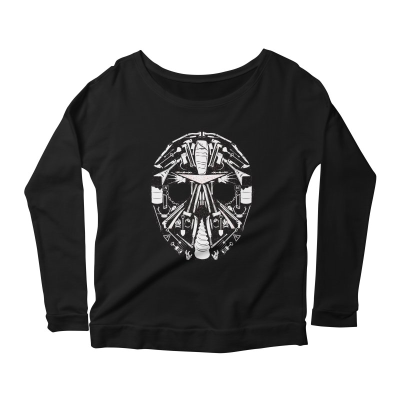"""Weapons of Choice """"Next Motherfucker Gonna Get My Metal"""" Variant Women's Longsleeve Scoopneck  by Cold Lantern Collection"""