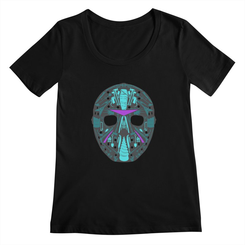 """Weapons of Choice """"8Bit"""" Variant Women's Scoopneck by Cold Lantern Collection"""