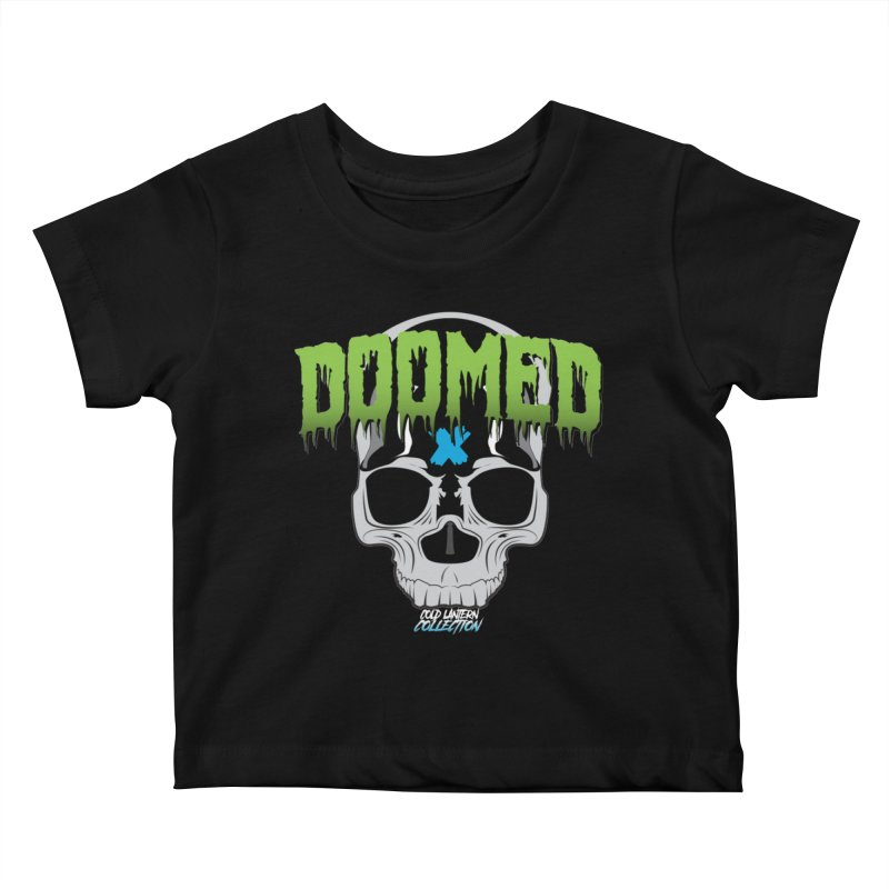 DOOMED Logo Kids Baby T-Shirt by Cold Lantern Collection