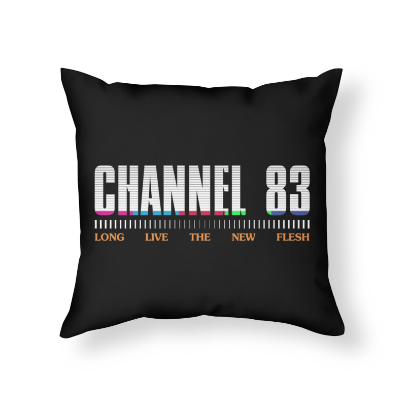 CHANNEL 83 Home Throw Pillow by Cold Lantern Collection