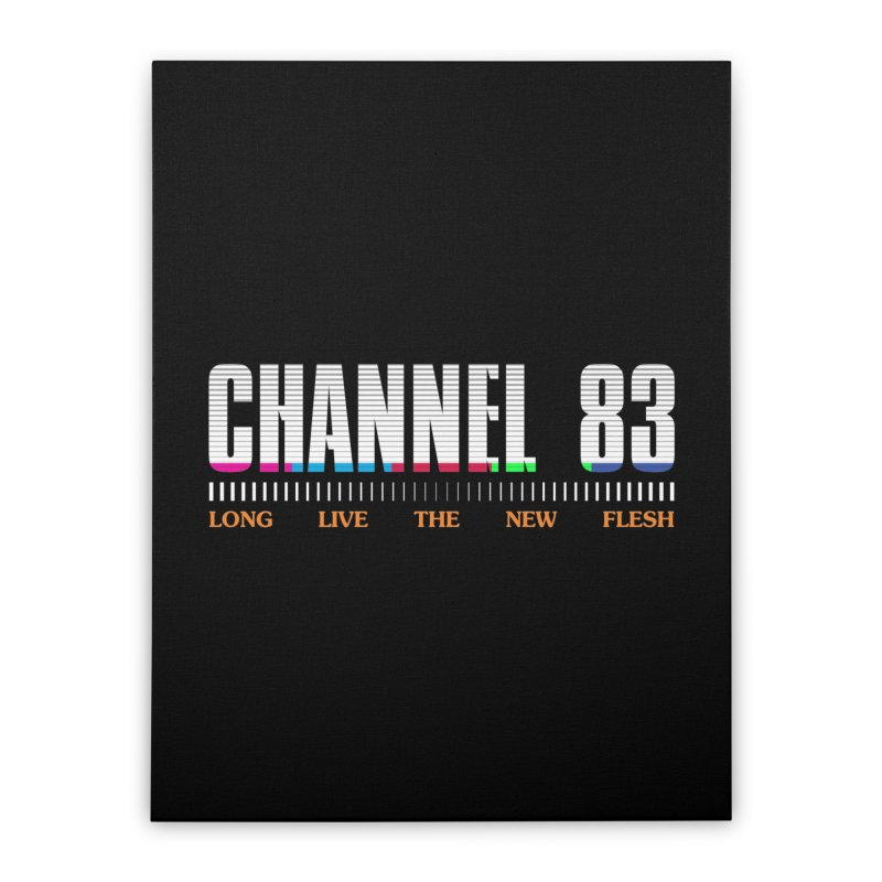 CHANNEL 83 Home Stretched Canvas by Cold Lantern Collection