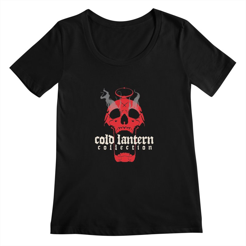 """CLC """"Find What You Seek"""" Logo Women's Scoopneck by Cold Lantern Collection"""