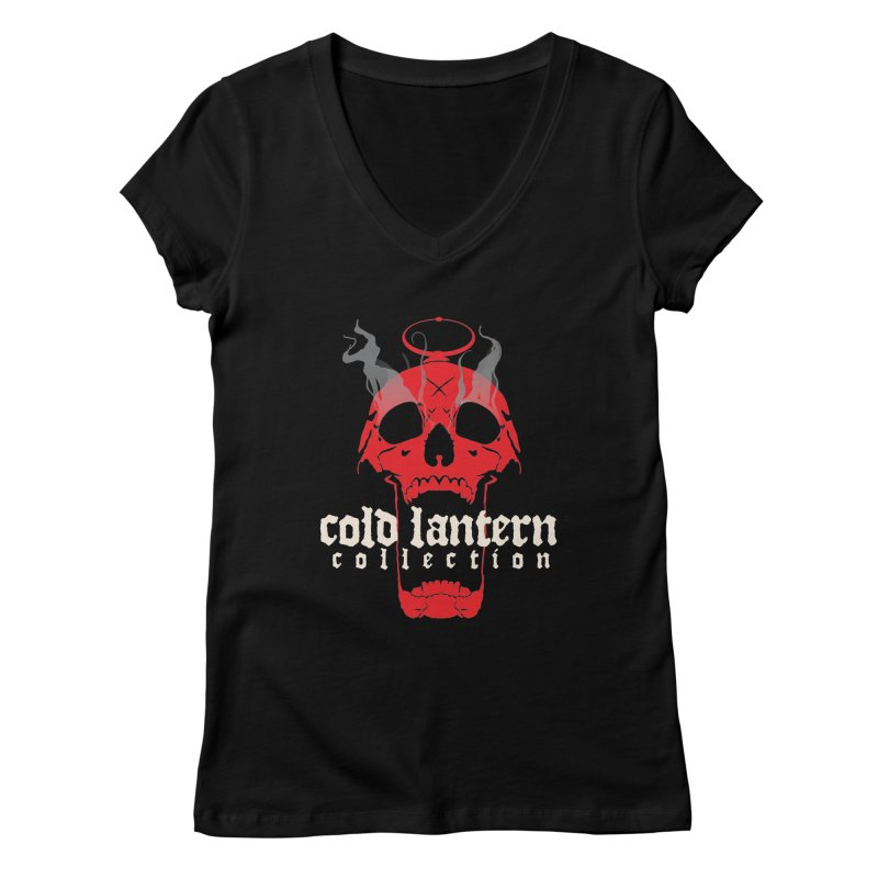 "CLC ""Find What You Seek"" Logo  Women's V-Neck by Cold Lantern Collection"