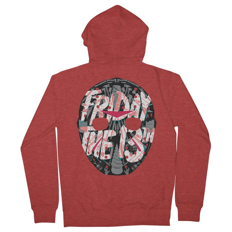 """Weapons of Choice """"Title Card"""" Variant Men's French Terry Zip-Up Hoody by Cold Lantern Collection"""