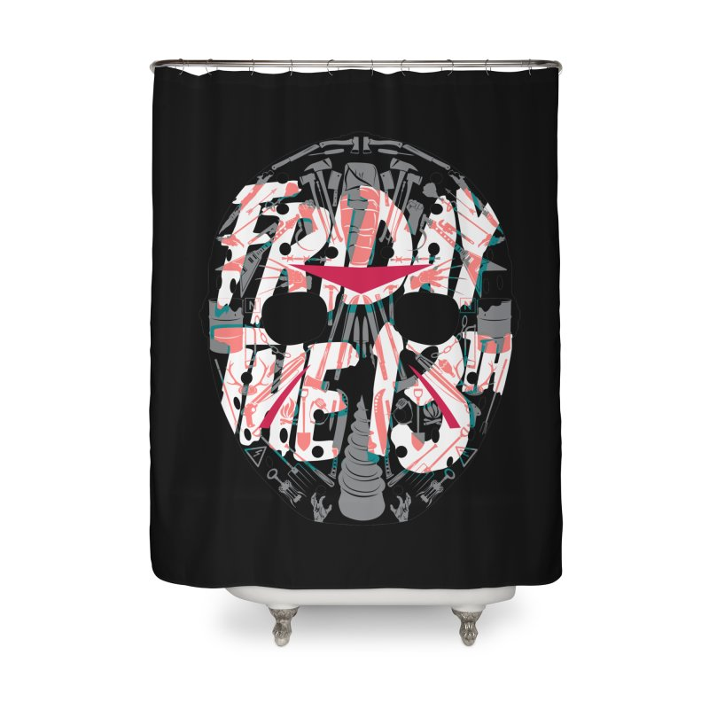 "Weapons of Choice ""Title Card"" Variant Home Shower Curtain by Cold Lantern Collection"