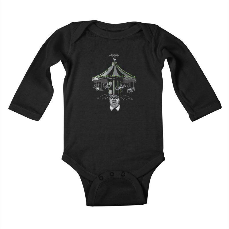 Step Right Up! Kids Baby Longsleeve Bodysuit by Cold Lantern Collection