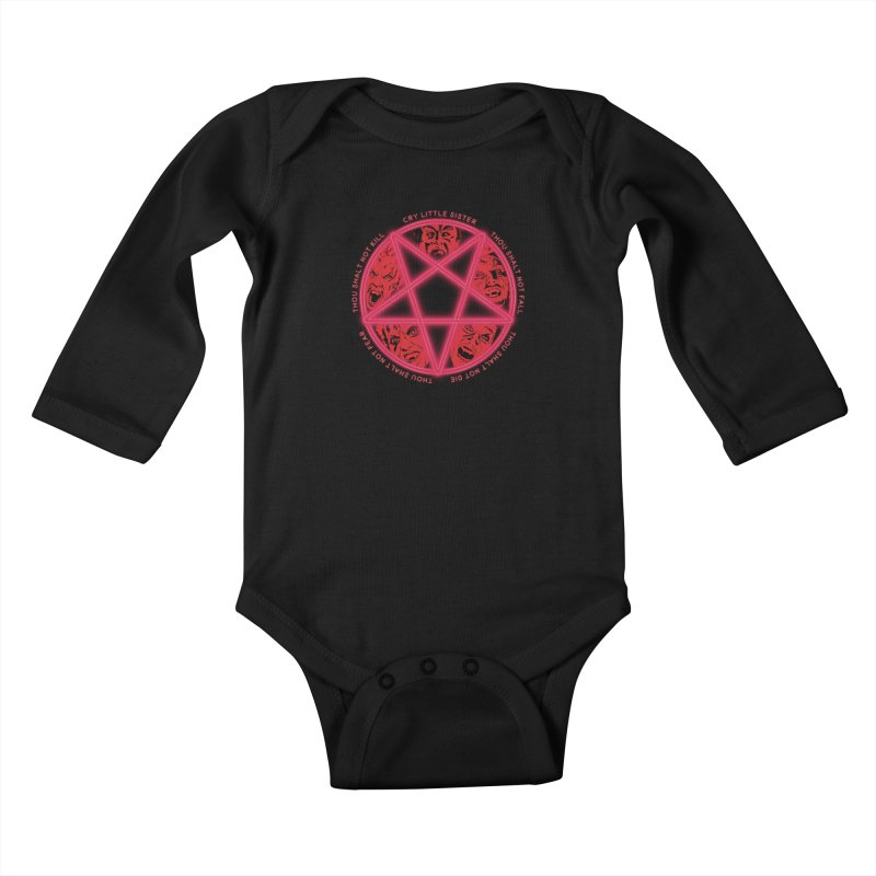 The Santa Carla Five Kids Baby Longsleeve Bodysuit by Cold Lantern Collection