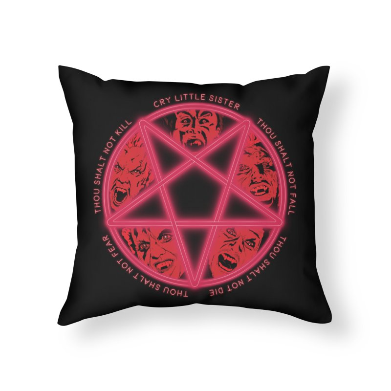 The Santa Carla Five Home Throw Pillow by Cold Lantern Collection