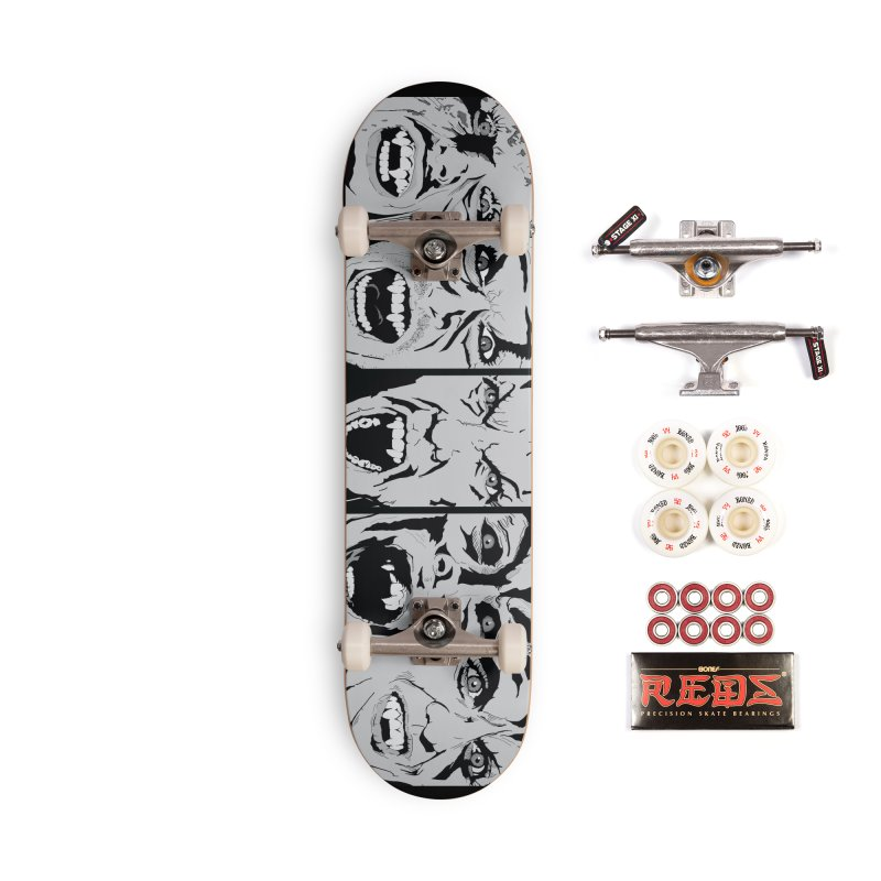 Life is Fun (Monochrome Variant) Accessories Complete - Pro Skateboard by Cold Lantern Design