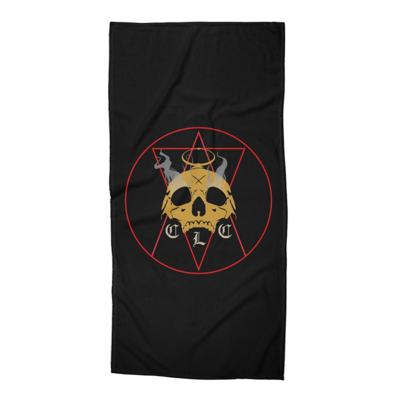 """CLC """"Broken Up"""" Logo Accessories Beach Towel by Cold Lantern Collection"""