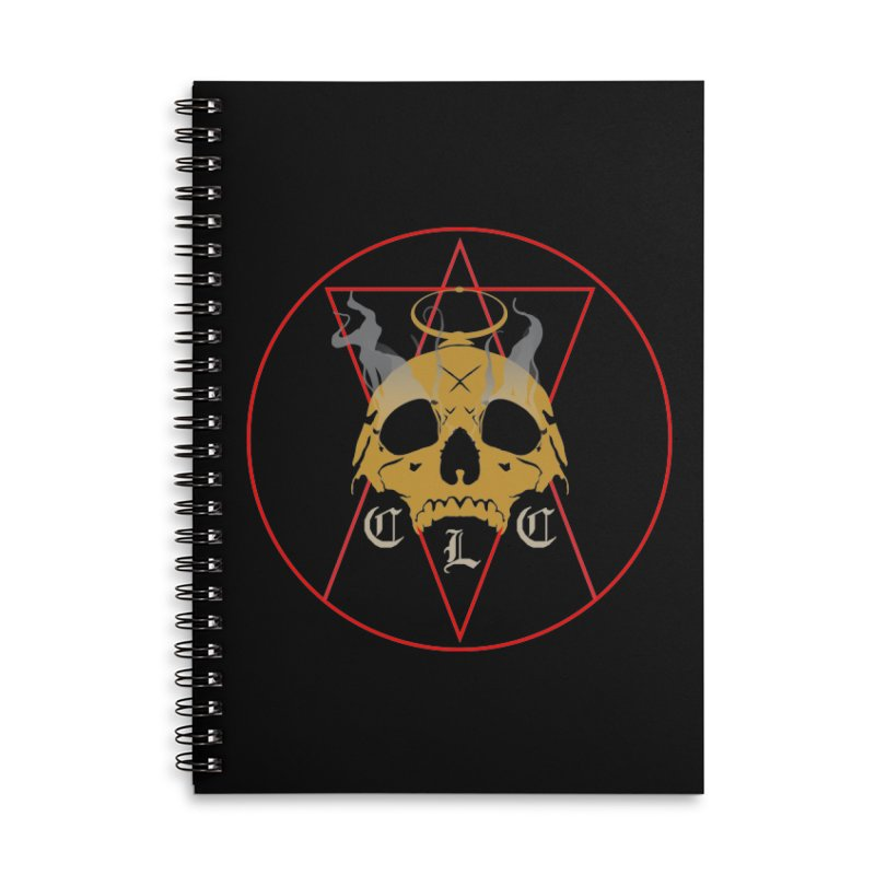 "CLC ""Broken Up"" Logo Accessories Lined Spiral Notebook by Cold Lantern Collection"