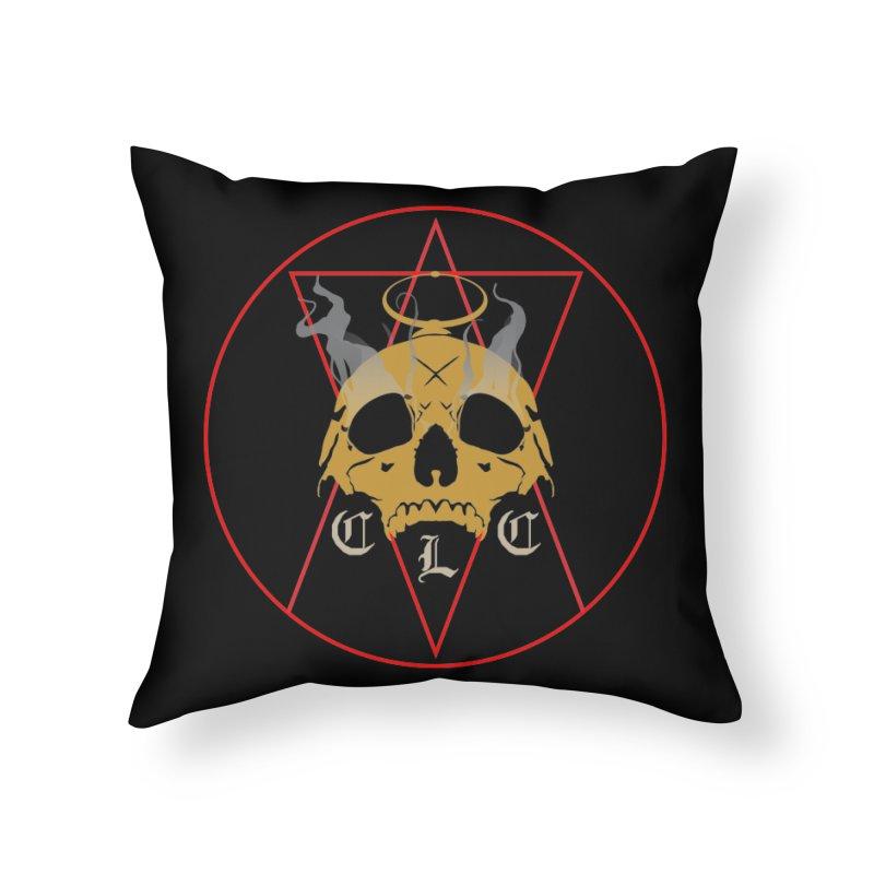 "CLC ""Broken Up"" Logo Home Throw Pillow by Cold Lantern Collection"