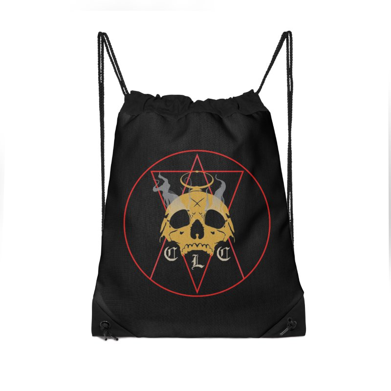 """CLC """"Broken Up"""" Logo Accessories Drawstring Bag Bag by Cold Lantern Collection"""