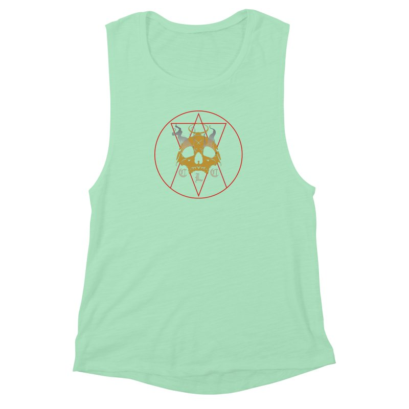 "CLC ""Broken Up"" Logo Women's Muscle Tank by Cold Lantern Collection"