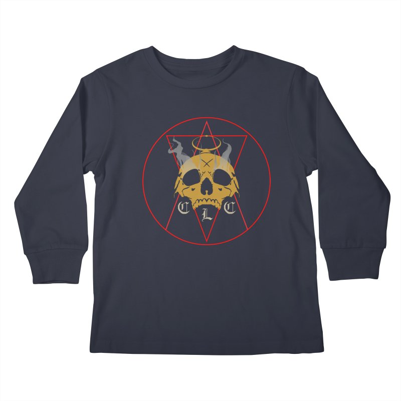 "CLC ""Broken Up"" Logo Kids Longsleeve T-Shirt by Cold Lantern Collection"