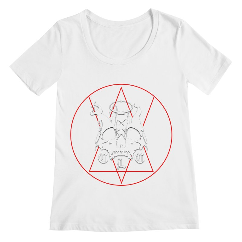 """CLC """"Light & Shadow"""" Logo Women's Regular Scoop Neck by Cold Lantern Collection"""