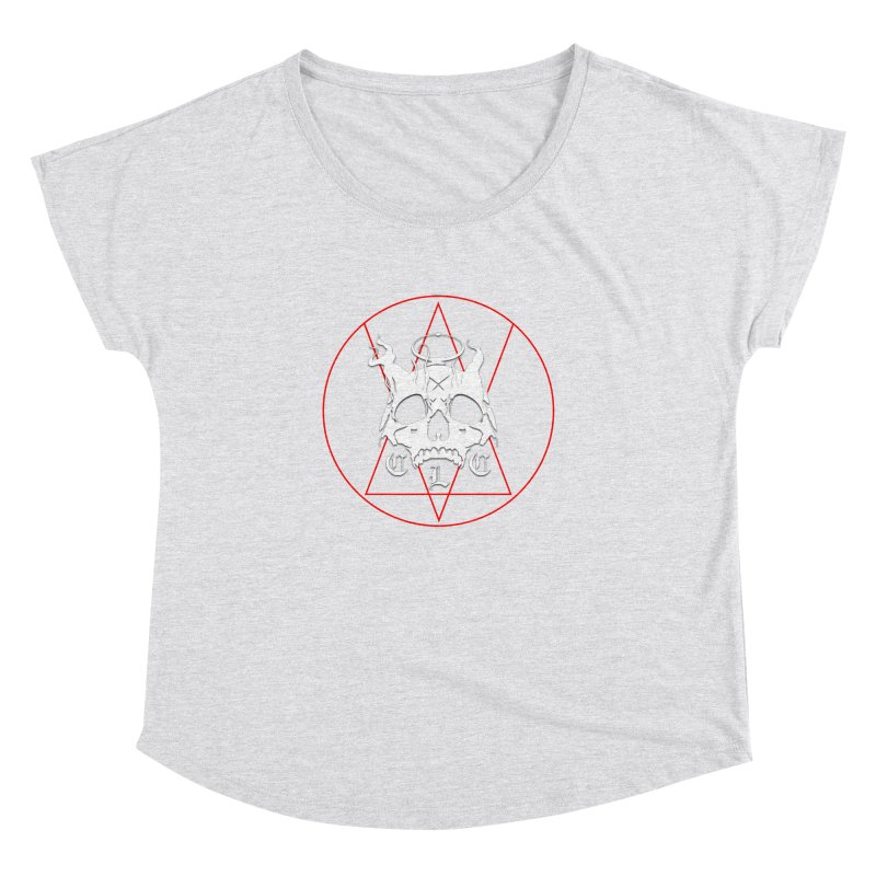 """CLC """"Light & Shadow"""" Logo Women's Dolman Scoop Neck by Cold Lantern Collection"""
