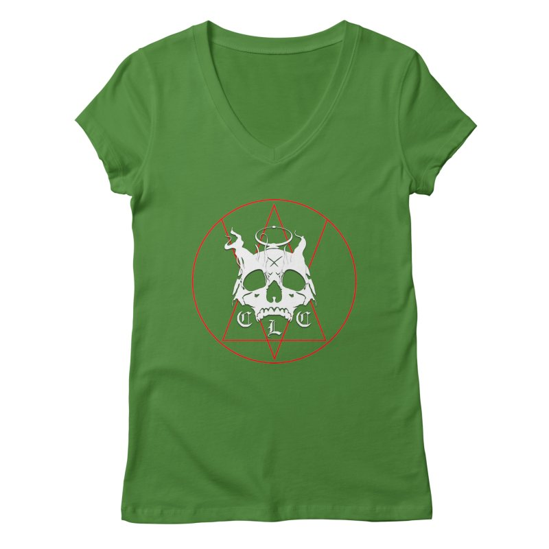 "CLC ""Light & Shadow"" Logo Women's Regular V-Neck by Cold Lantern Collection"