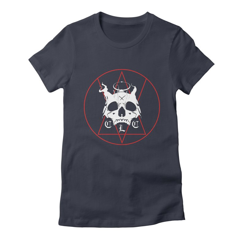 """CLC """"Light & Shadow"""" Logo Women's Fitted T-Shirt by Cold Lantern Collection"""