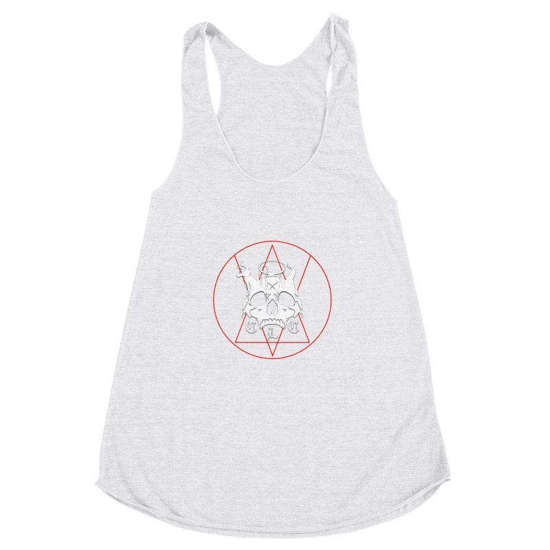 """CLC """"Light & Shadow"""" Logo Women's Racerback Triblend Tank by Cold Lantern Collection"""