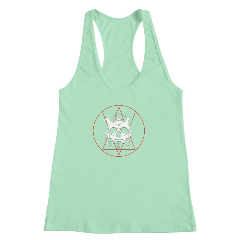 "CLC ""Light & Shadow"" Logo Women's Racerback Tank by Cold Lantern Collection"