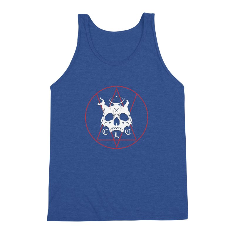 """CLC """"Light & Shadow"""" Logo Men's Triblend Tank by Cold Lantern Collection"""