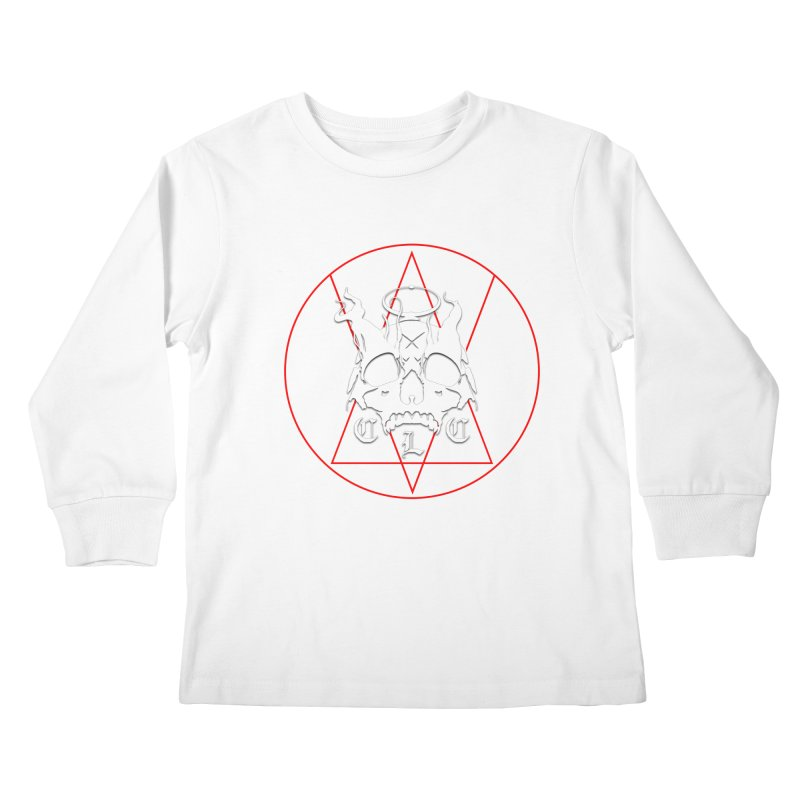 """CLC """"Light & Shadow"""" Logo Kids Longsleeve T-Shirt by Cold Lantern Collection"""