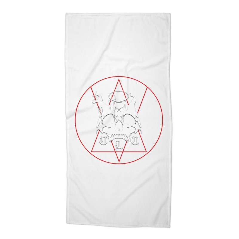 """CLC """"Light & Shadow"""" Logo Accessories Beach Towel by Cold Lantern Collection"""