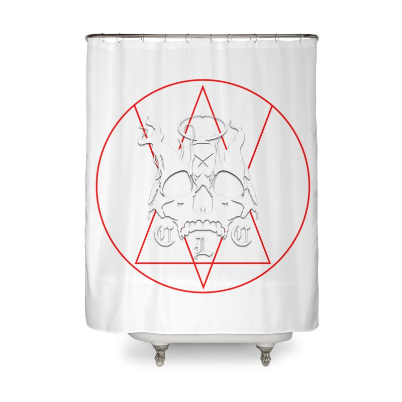 "CLC ""Light & Shadow"" Logo Home Shower Curtain by Cold Lantern Collection"