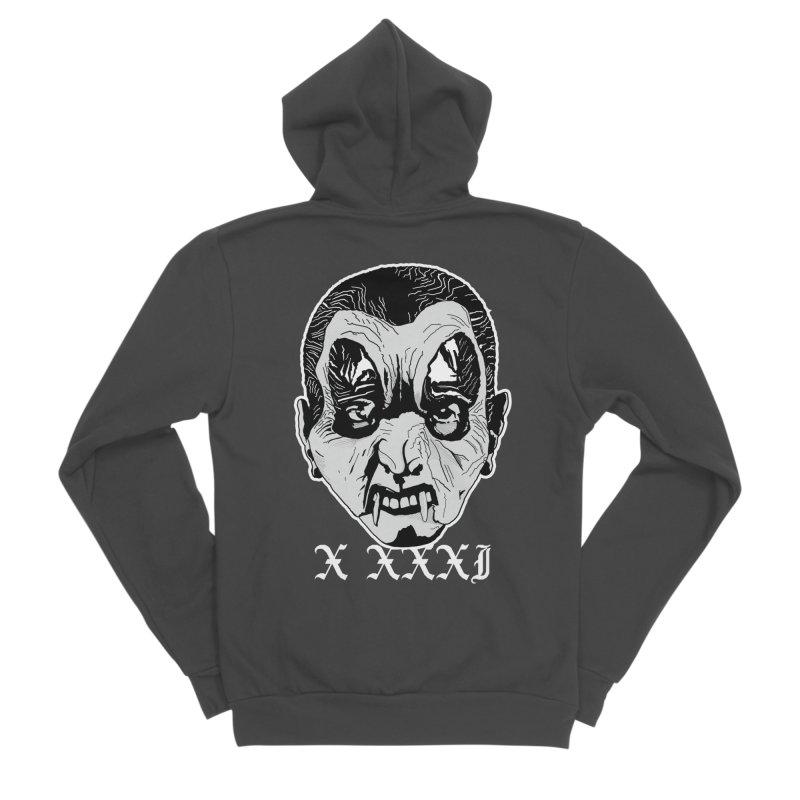 """X XXXI """"Vampire Kid"""" Men's Sponge Fleece Zip-Up Hoody by Cold Lantern Design"""
